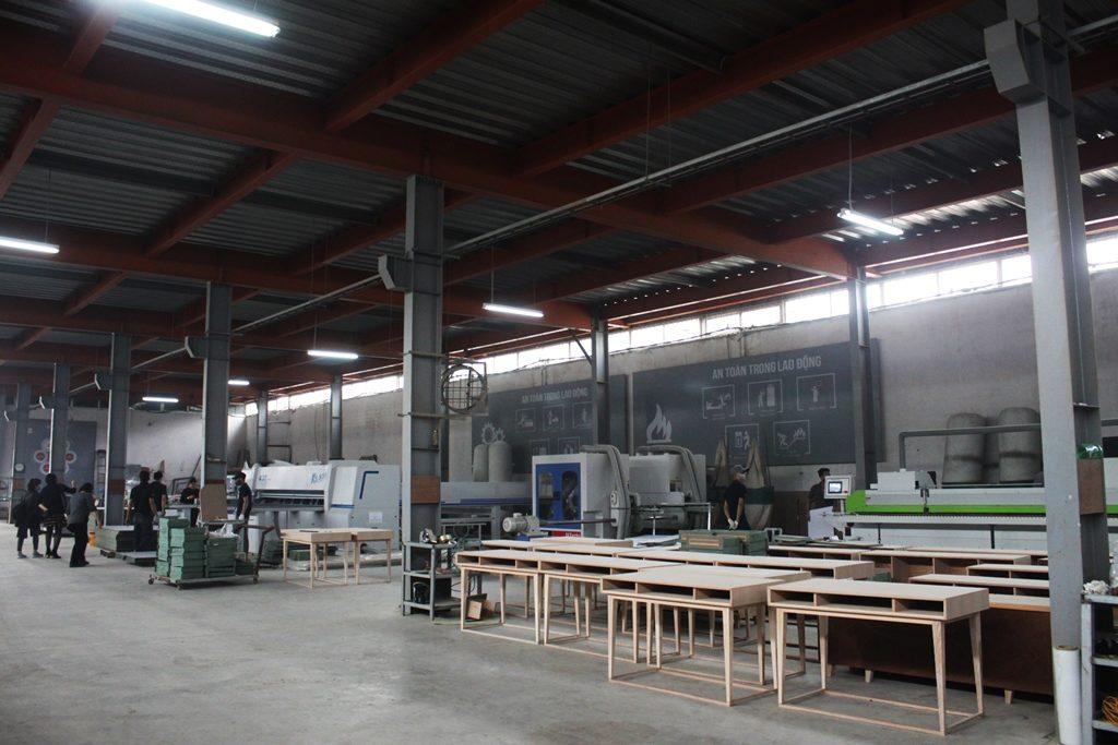Quy mô nhà máy sản xuất