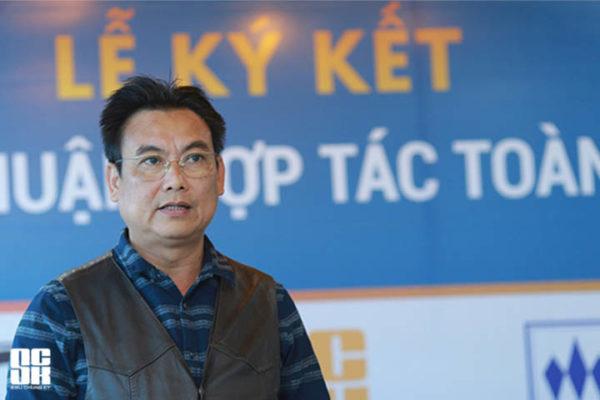 Ông Nguyễn Hồng Sơn - Chủ tịch Hội đồng thành viên Công ty TNHH Kiến trúc APIC phát biểu tại buổi lễ.