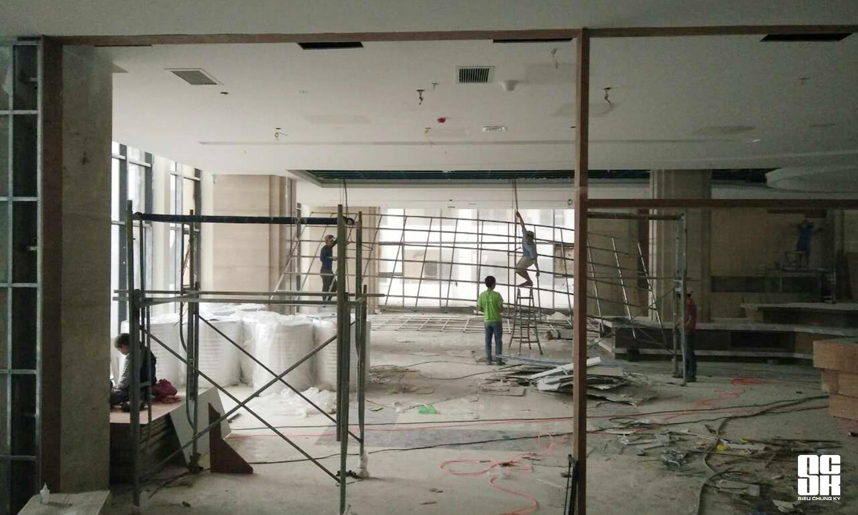 Mặt bằng dự án Khách sạn Mường Thanh Luxury Sông Hàn khi Công ty Cổ phần Siêu Chung Kỳ nhận từ phía chủ đầu tư.