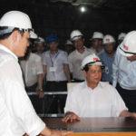 Thủ tướng Nguyễn Tấn Dũng cùng phó thủ tướng Hoàng Trung Hải thị sát, kiểm tra tiến độ công trình Nhà Quốc Hội